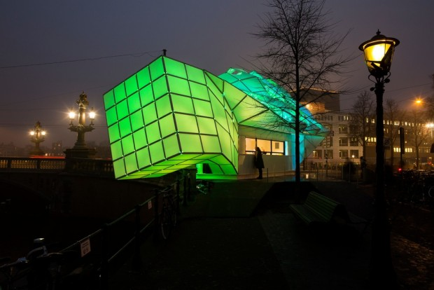 Pavillon Eye_Beacon par UNStudio et MDT-tex pour le Light Festival Amsterdam