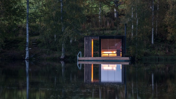 Sauna pour un Bed & Breakfast en Suède par Small Architecture Workshop